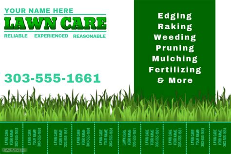 Lawn Mowing Service Brochure Template Word Publisher Lawn Care Templates Microsoft Word Images