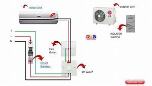 Single Phase Split Ac Indoor Outdoor Wiring Diagram Ryb Electrical In 2019