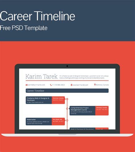 career timeline samples   psd