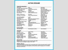 Outstanding Acting Resume Sample to Get Job Soon
