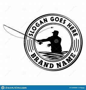 Fly Fishing Tournament Logo Design Template. Vector And ...