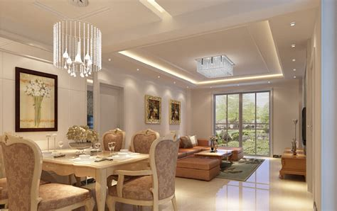 3d design ceiling lights for dining living room 3d house