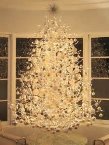 Flocked Slim Christmas Tree by 33 Exciting Silver And White Christmas Tree Decorations