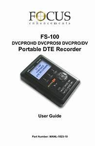 Focus Firestore Fs-100 Manuals