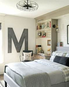 35 ideas to organize and decorate a teen boy bedroom for How to decorate teenage bedroom