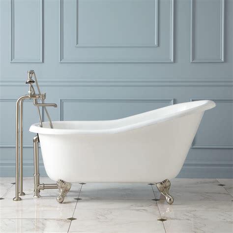 clawfoot tub 57 quot erica cast iron clawfoot slipper tub ball claw feet bathroom