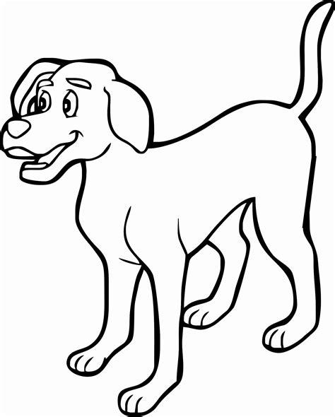 nuova cane disegni  bambini pagine da colorare
