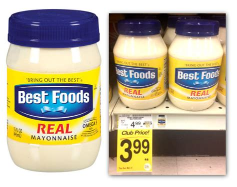 Best Foods Mayonnaise Only .49 At Safeway!