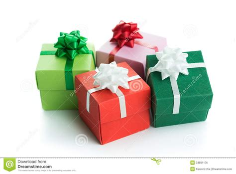 Various Colour Gift Boxes Stock Photo Image Of Present