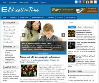 template blog seo responsive  web sekolah contoh blog