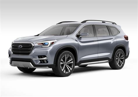 new york 2017 subaru ascent 7 seater suv debuts auto