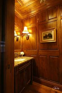 Floor, To, Ceiling, Knotty, Alder, Paneling, In, Guest, Bathroom