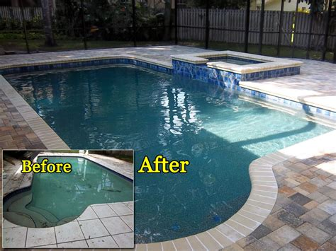 pool makeovers complete pool renovations tropical pools and pavers