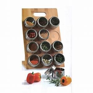 Pots à épices : porte pices aimant en bambou maison fut e ~ Teatrodelosmanantiales.com Idées de Décoration