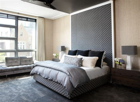 chic contemporary bedroom chicago by