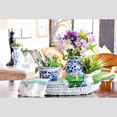 How To Decorate For Spring Kitchen Tray Vignette Casa