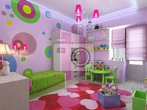 Fototapete Kinderzimmer Mädchen : 3d illustration kinderzimmer f r m dchen in rosa farben fototapete fototapeten ~ Frokenaadalensverden.com Haus und Dekorationen