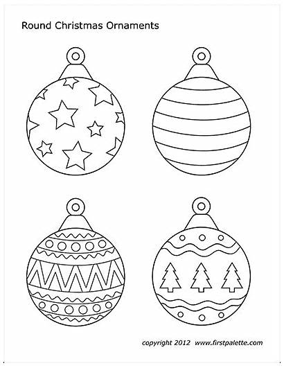 Printable Christmas Ornaments Ornament Tree Paper Round