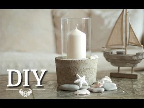 diy coole deko vasewindlicht aus glas und beton selber
