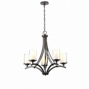 Hampton bay light oil rubbed bronze ceiling chandelier the home depot