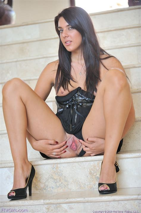 Brunette Babe Claire Looks Sexy On These Stairs Nextdoor Mania