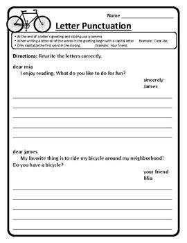 friendly letter worksheets friendly letter writing