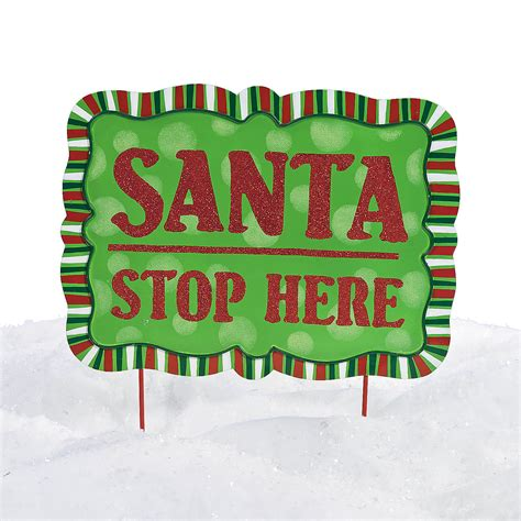 santa stop here yard sign oriental trading discontinued