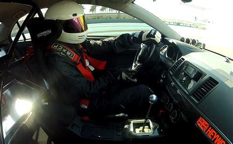 Michael Heywood Mitsubishi Evo X Yas Marina Record