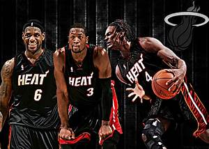 NBA Wallpapers: Miami Heat - Lebron James, Dwayne Wade ...