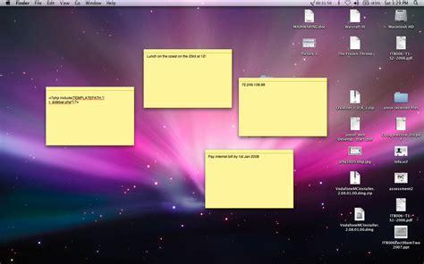 post it bureau mac macbook notizen post it pc mac