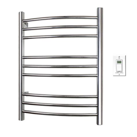 warmlyyours riviera towel warmer polished stainless the home depot canada