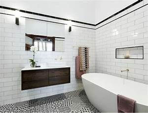Salle De Bain Noire Et Blanche : salle de bain noire et blanche en 24 id es de d co ~ Melissatoandfro.com Idées de Décoration