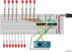 Arduino Nano And Tpic6b595 X2