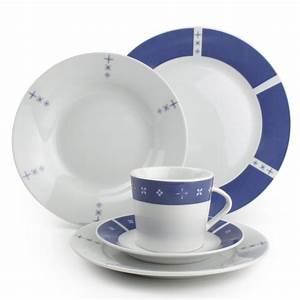 Service Vaisselle Porcelaine : prix service de table bleu vaisselle maison ~ Teatrodelosmanantiales.com Idées de Décoration