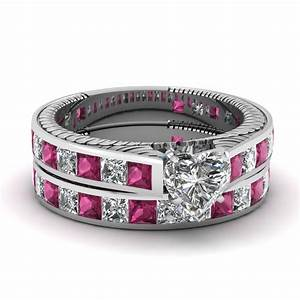 buy affordable pink sapphire wedding ring sets online With buy wedding ring sets online