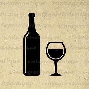 Digital Printable Wine Image Download Wine Bottle and Wine ...
