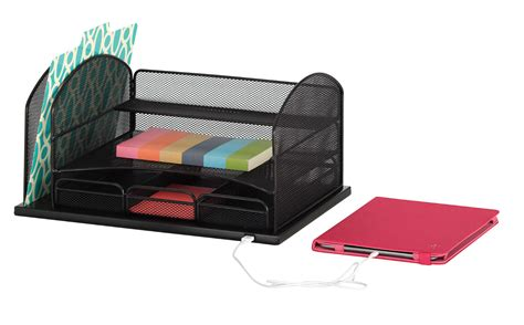 Organizers : Safco Products 3257bl Onyx Mesh Desktop