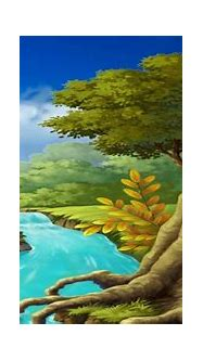 Beautiful 3D Animation with Nature Waterfall Scenery, 3D ...
