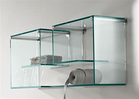 Regal Glas by Tonelli Alfabeta Pair Of Glass Shelves Glass Furniture