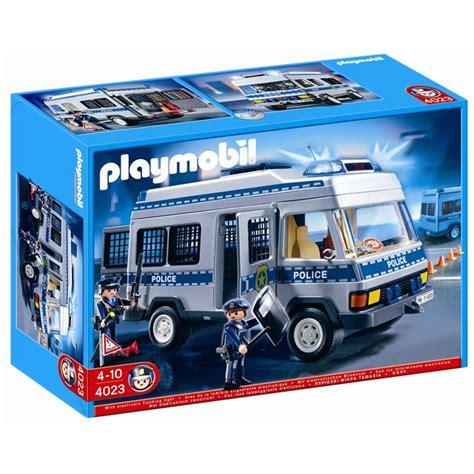 Playmobil 4023 Fourgon Equipé Et Policiers