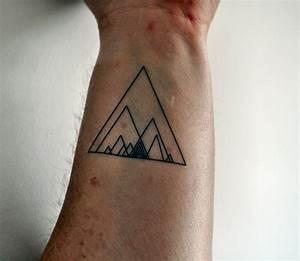 Geometric Triangle Temporary Tattoo Hipster Temporary Tattoo
