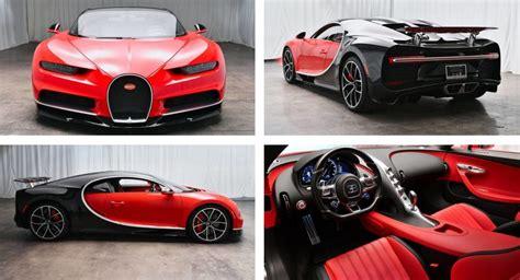 Arabs bugatti chiron in cannes !! Barely Run-In Red And Black Bugatti Chiron Will Cost You $3.1 Million | Carscoops