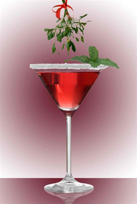 christmas martinis mistletoe punch recipe dishmaps