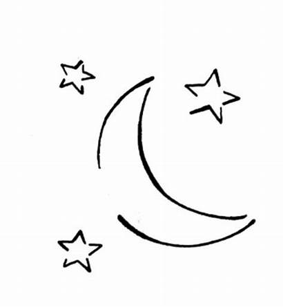 Moon Coloring Stars Three Shooting Pages Star
