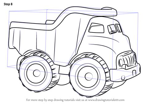learn   draw  dump truck  kids vehicles step  step drawing tutorials