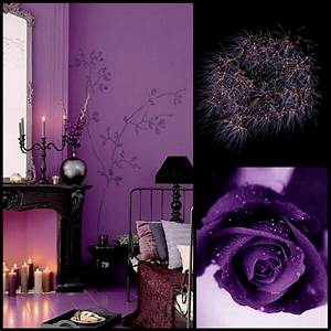 Black and purple wallpaper for bedrooms (photos and video ...