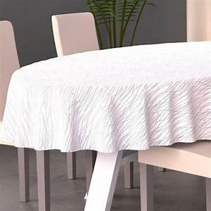 Nappe Table Ovale : nappe ovale l230 cm glitter blanc linge de table eminza ~ Teatrodelosmanantiales.com Idées de Décoration