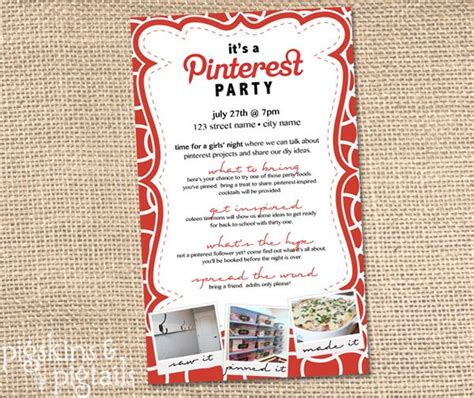 Pinterest Party Beautifuls And Printable Invitations