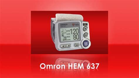 Omron HEM 637 Wrist Blood Pressure Monitor - YouTube