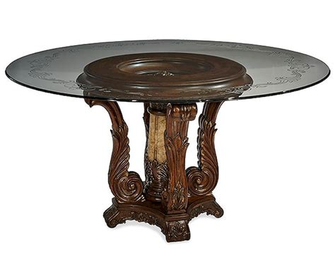 glass top dining table sets aico victoria palace round glass top dining table ai 61001 29